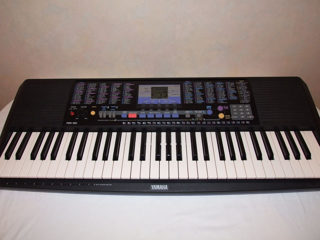 yamaha psr 190 keyboard with ac adaptor ebay