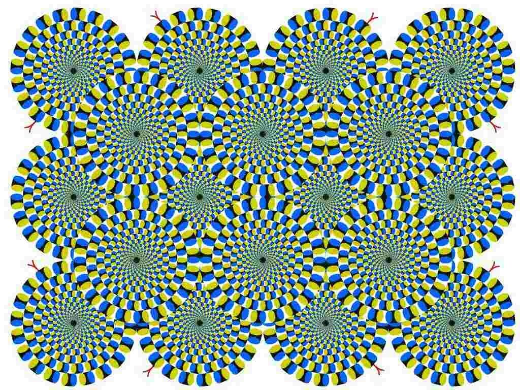 This is my favourite. The snake tail illusion