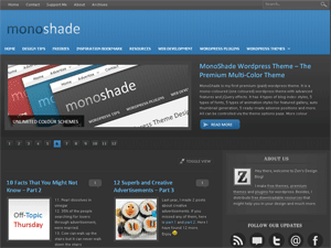 Dark Blue version of monoshade (dark background).